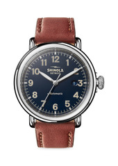 Shinola Runwell Automatic Stainless Steel & Leather Strap Watch