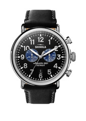 Shinola Runwell Chronograph Stainless Steel & Leather-Strap Watch