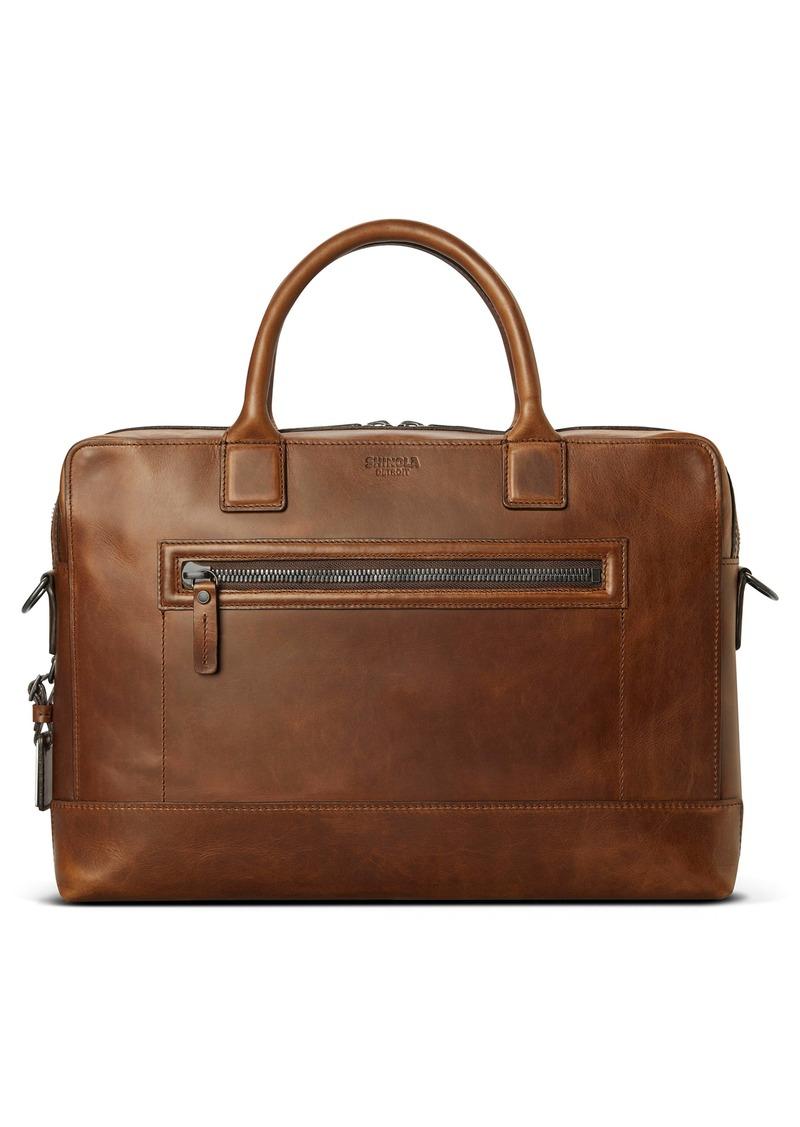 Shinola Bedrock Navigator Leather Briefcase