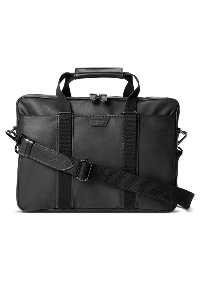 Shinola Brakeman Coated Canvas & Leather Briefcase