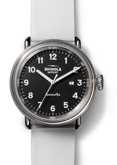 Shinola Detrola The Mood Silicone Strap Watch, 43mm