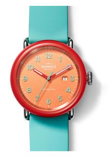 Shinola Detrola Silly Putty Silicone Strap Watch, 43mm