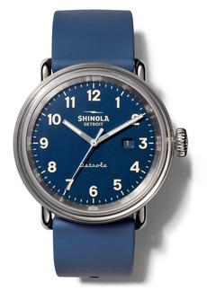 Shinola Detrola The Daily Wear Silicone Strap Watch, 43mm