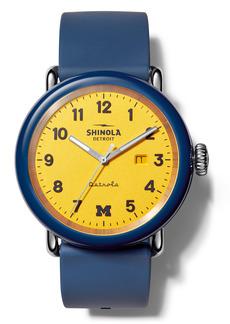 Shinola Detrola The Wolverine Silicone Strap Watch, 43mm