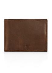 Shinola Slim Navigator Distressed Leather Bi Fold Wallet