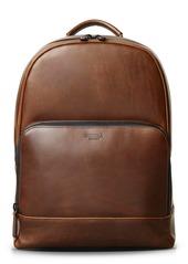 Shinola Fulton Navigator Leather Backpack