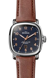 Shinola Guardian Leather Strap Watch, 41.5mm x 43mm