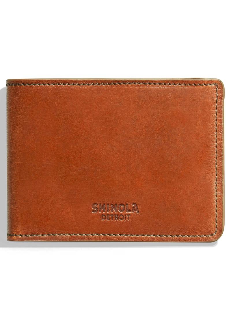 Shinola Harness Slim 2.0 Bifold Leather Wallet