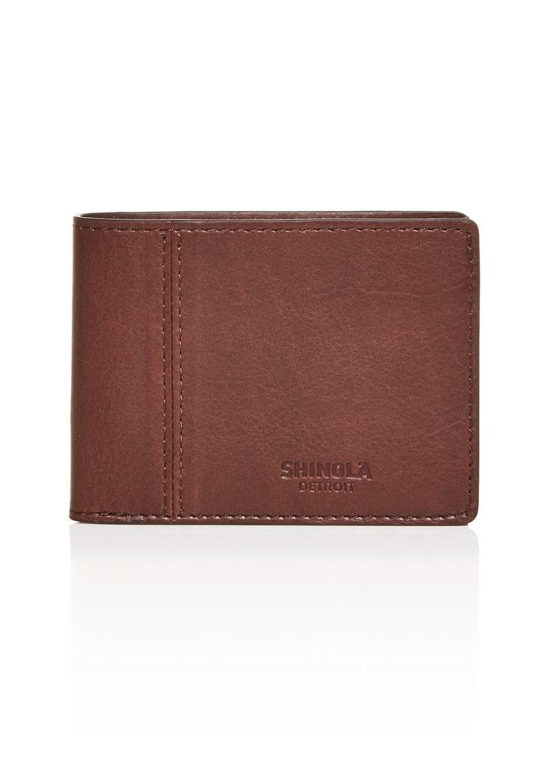 Shinola Heritage Leather Bi Fold Wallet