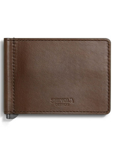 Shinola Heritage RFID Bifold Money Clip Leather Wallet