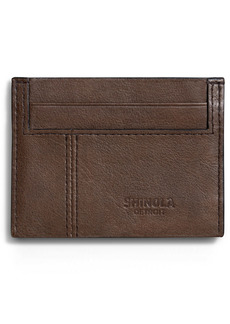 Shinola Heritage RFID Leather Card Case