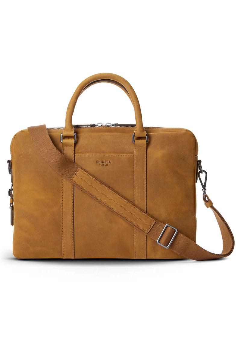 Shinola Leather Computer Briefcase