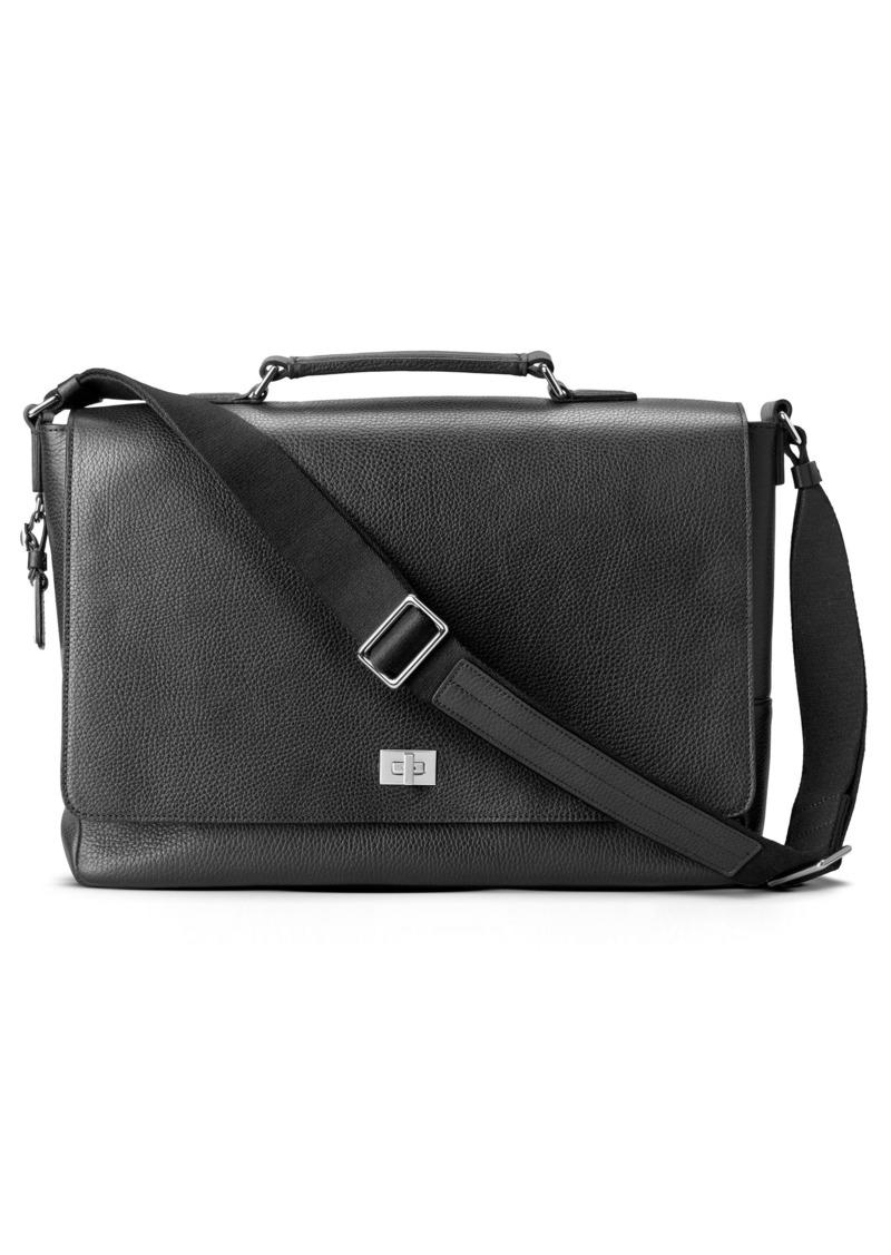 Shinola Leather Messenger Bag
