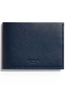 Shinola Leather Slim Bifold Wallet