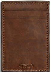 Shinola Navigator Leather Money Clip Card Case
