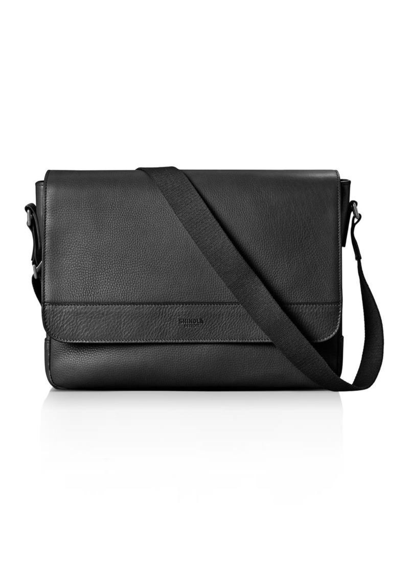 Shinola Signature Leather Slim Messenger Bag