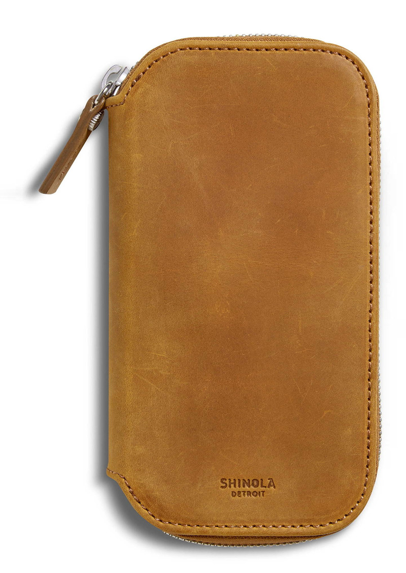 Shinola Navigator Leather Watch Travel Case