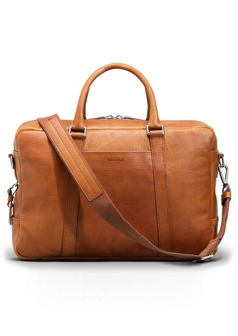 Shinola Signature Leather Slim Briefcase