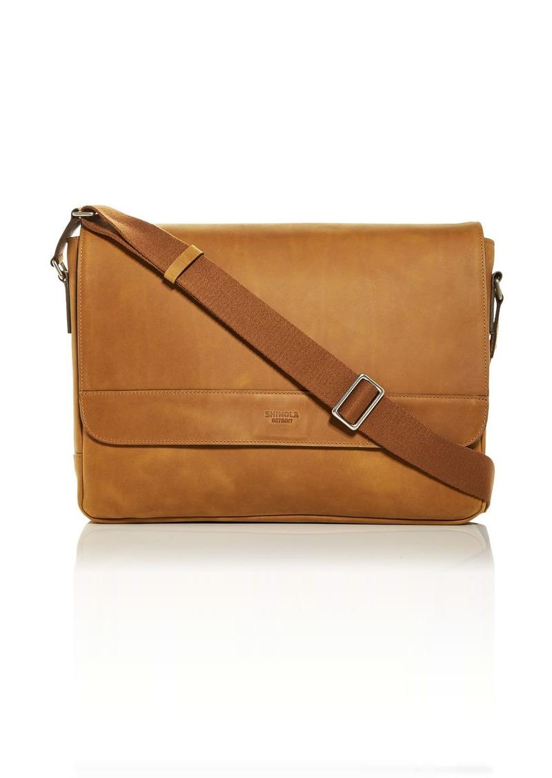 Shinola Slim 2.0 Navigator Leather Messenger Bag
