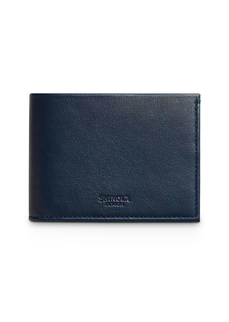 Shinola Slim Bi-Fold Leather Wallet