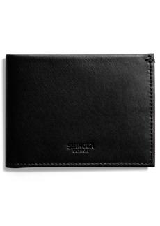 Shinola Slim Bifold Leather Wallet