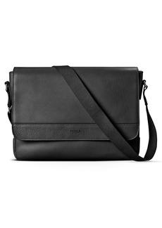 Shinola Slim Leather Messenger Bag