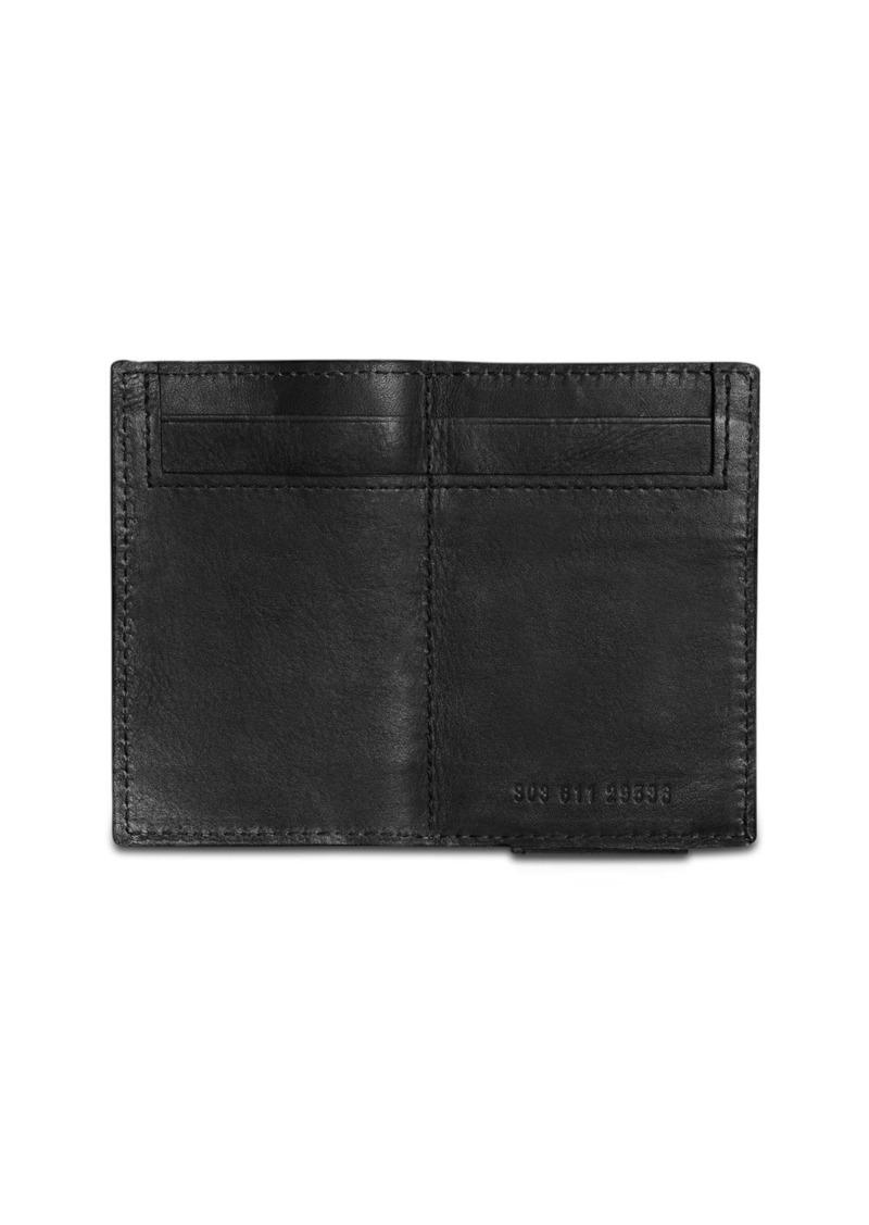 Shinola Split Leather Money Clip Bifold Wallet