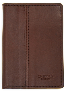 Shinola Split RFID Leather Money Clip Bifold Wallet