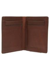 Shinola Split RFID Leather Money Clip Bifold Wallet
