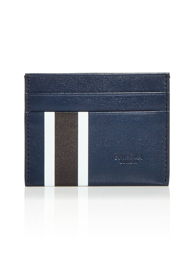 Shinola Striped Leather Card Case