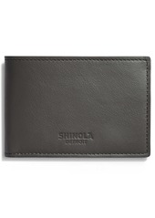 Shinola Super Slim Leather Wallet