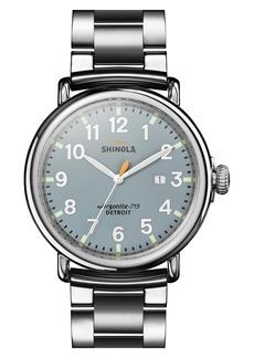 Shinola The Runwell Bracelet Watch, 47mm