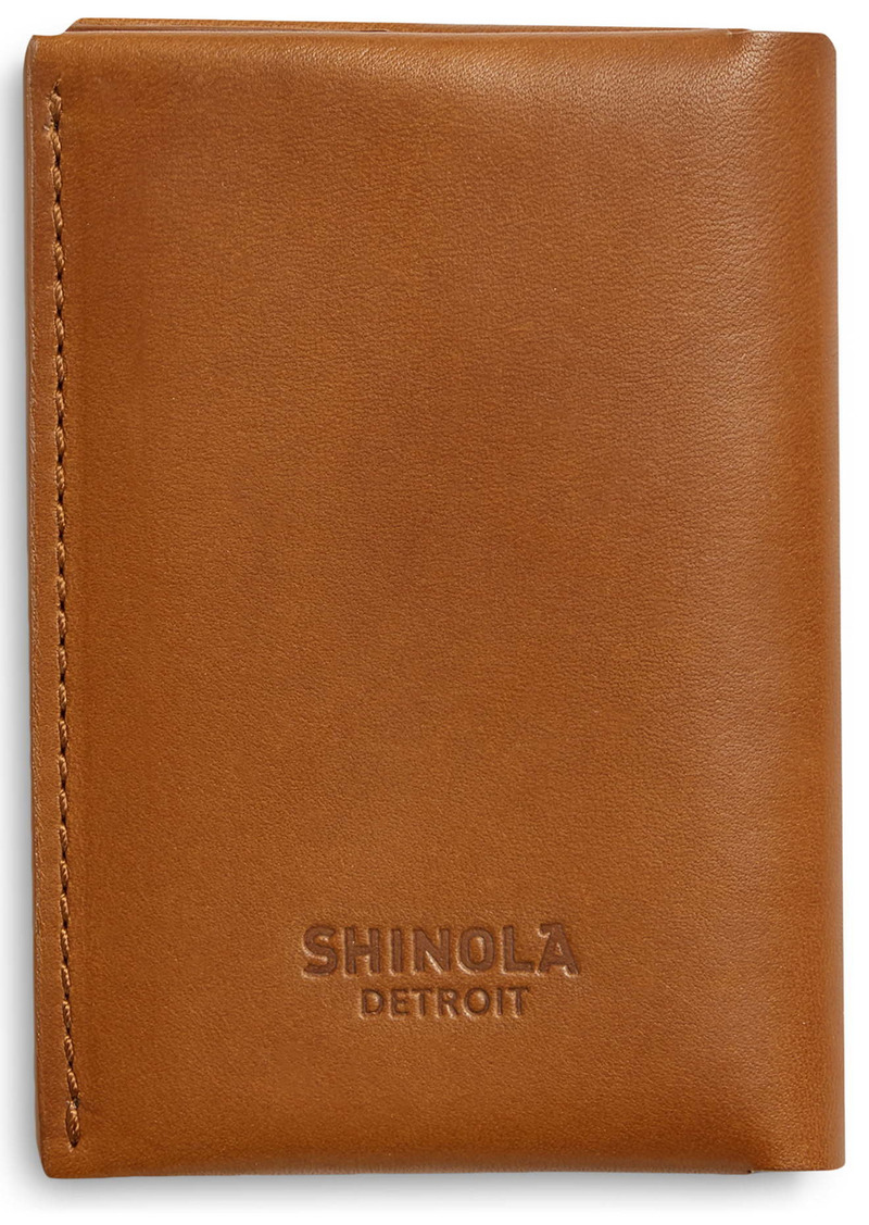 Shinola Utility Folded Leather Card Holder