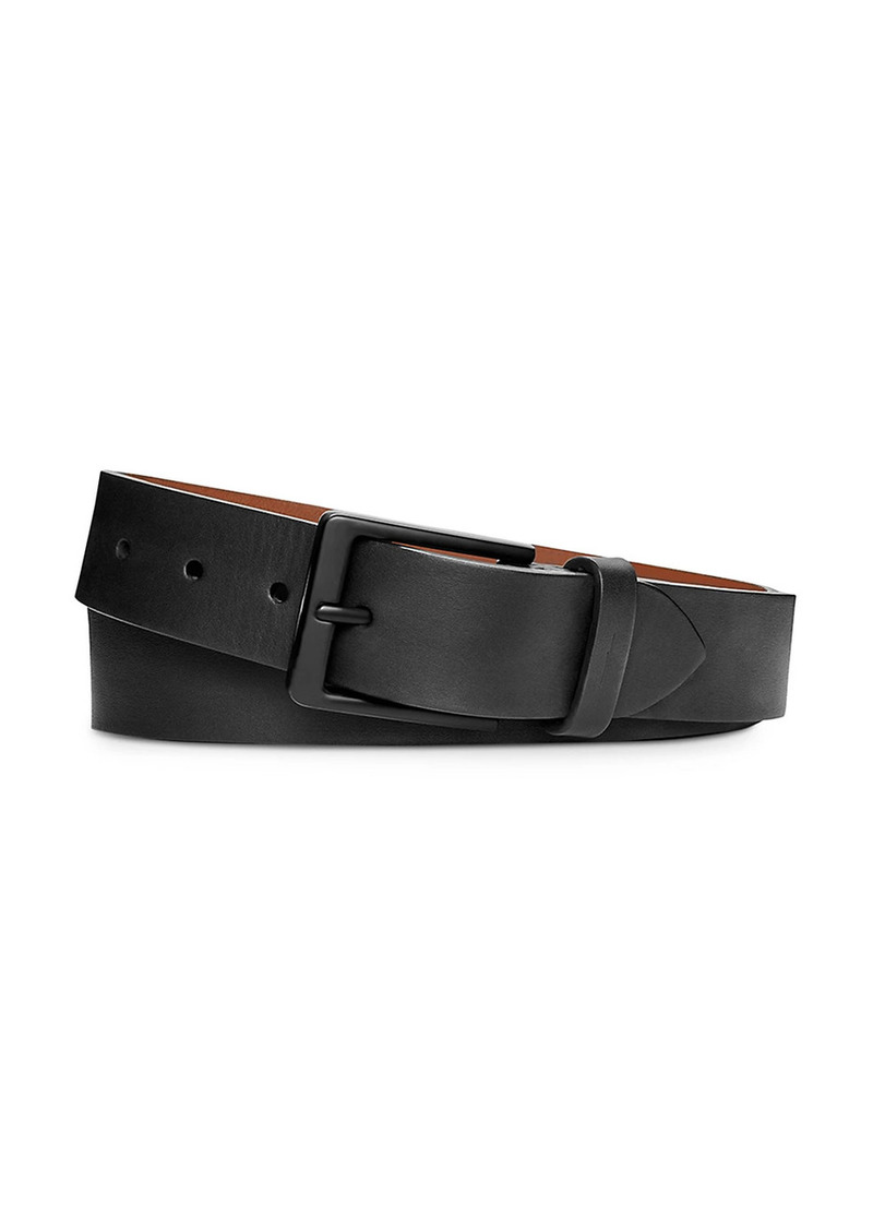 Shinola Square Buckle Leather Belt