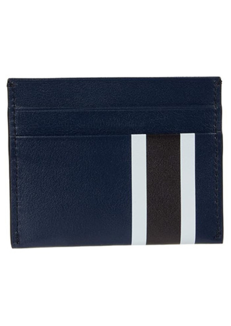 Shinola Striped Five-Pocket Card Case Smooth Grain Leather