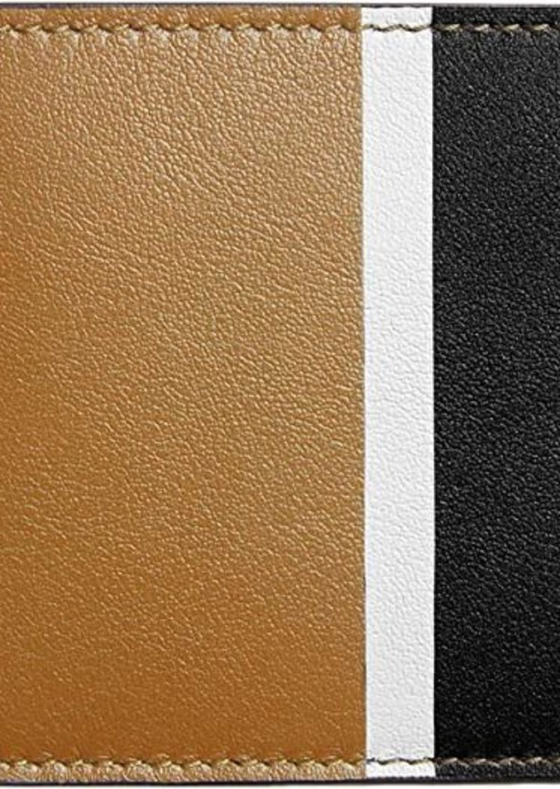 Shinola Striped Slim Bifold Smooth Grain Leather