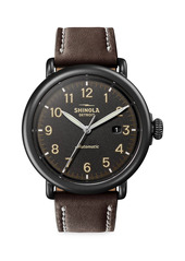 Shinola Thr Runwell Automatic Stainless Steel & Leather Strap Watch