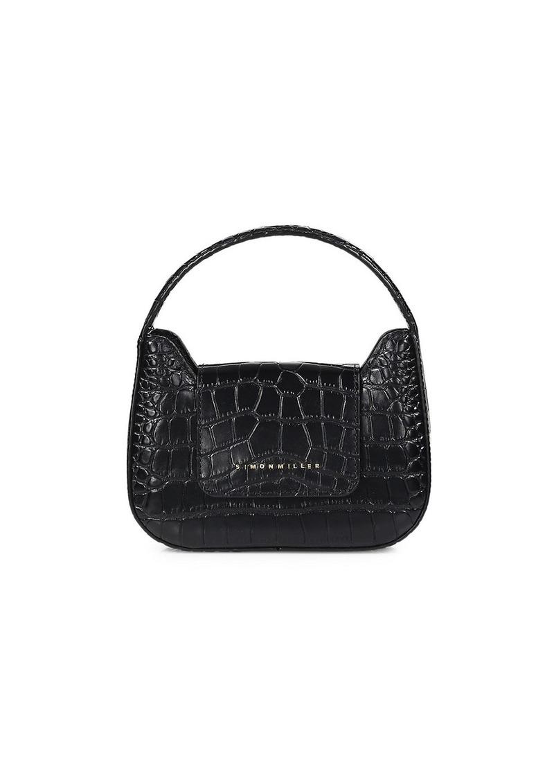 Simon Miller Mini Retro Croc-Embossed Leather Shoulder Bag