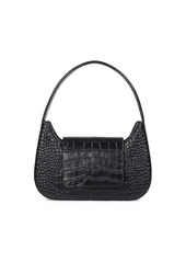 Simon Miller Retro Croc-Embossed Leather Shoulder Bag