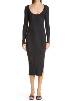 RIB by Simon Miller Noah Side Slit Long Sleeve Midi Dress