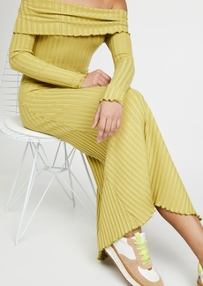 Simon Miller Espen Fold Over Long Sleeve Dress