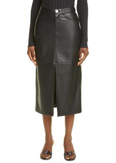Simon Miller Kahn Faux Leather Pencil Skirt