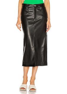 Simon Miller Khan 5 Pocket High Slit Skirt