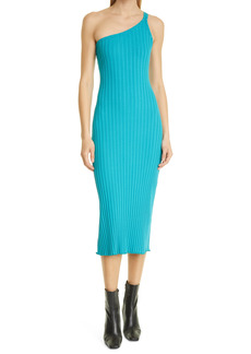 Simon Miller Oline One-Shoulder Ribbed Dress