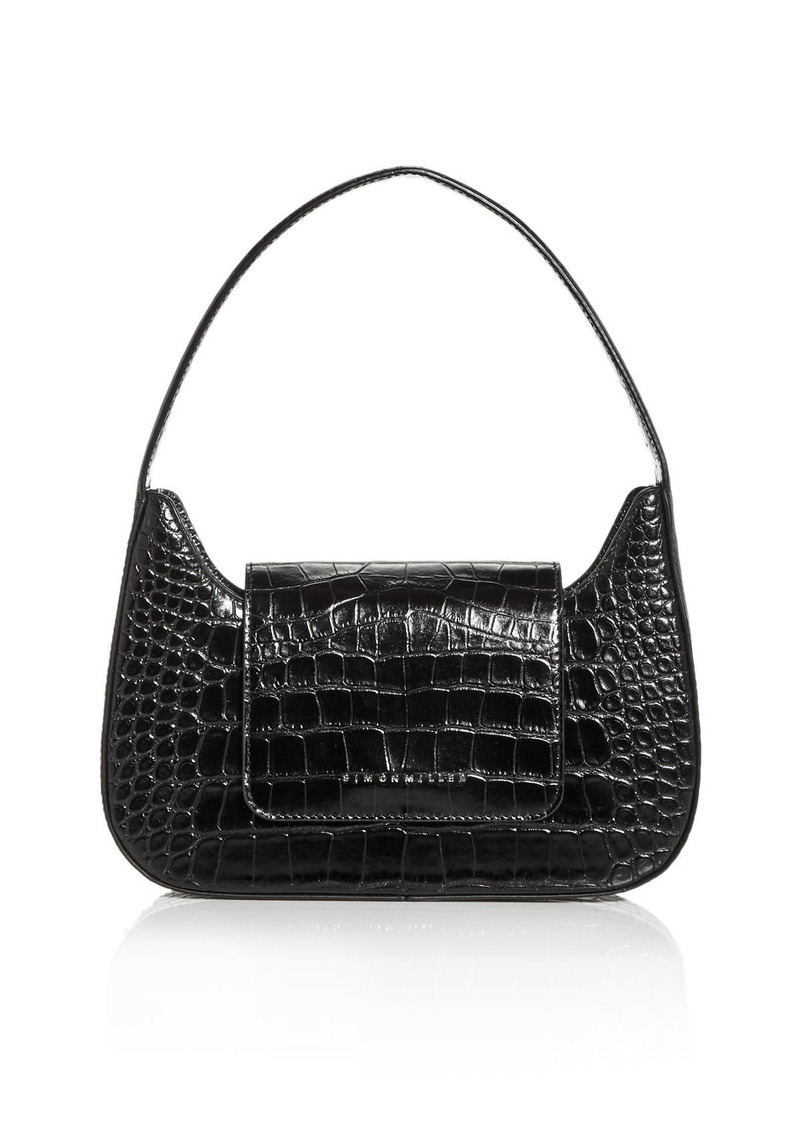SIMON MILLER Retro Croc Embossed Shoulder Bag