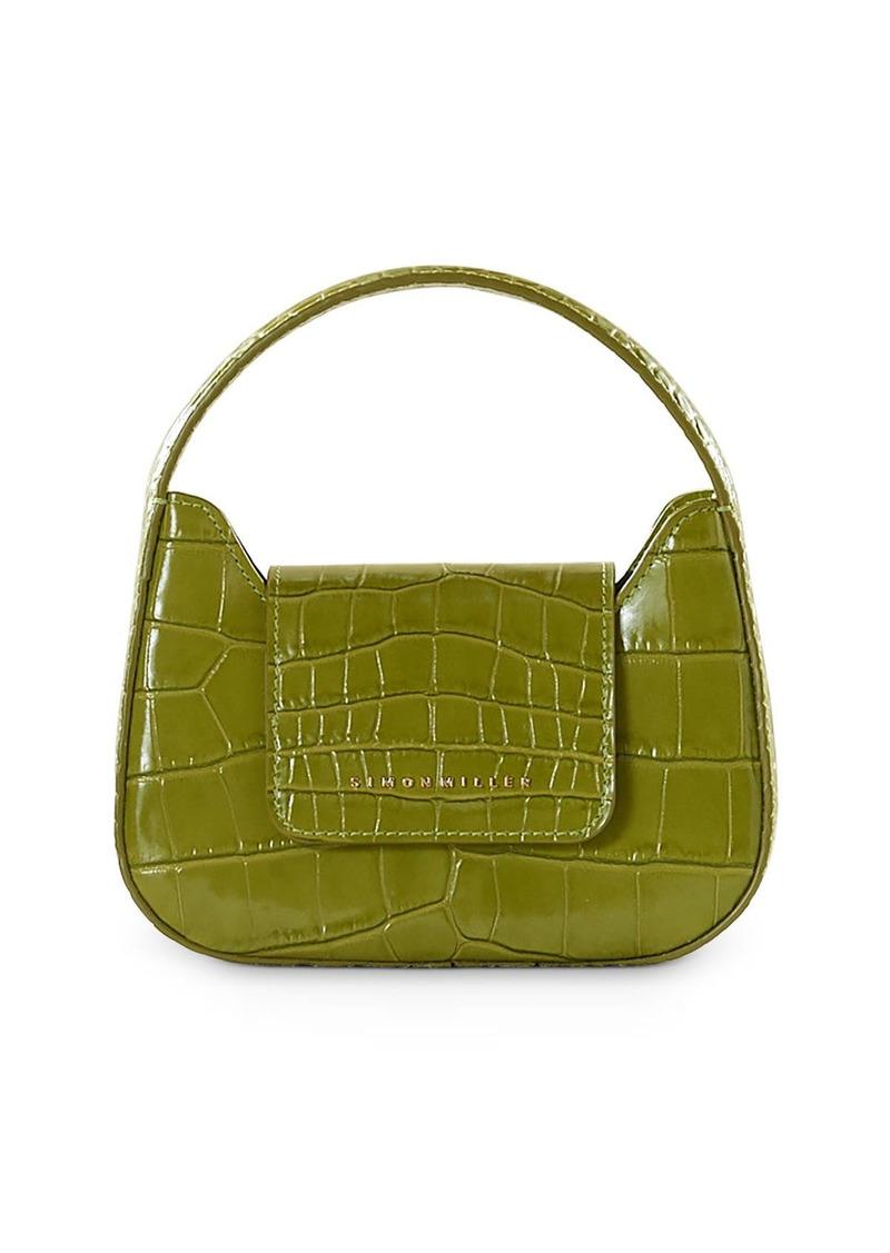 SIMON MILLER Retro Mini Croc-Embossed Top Handle Bag