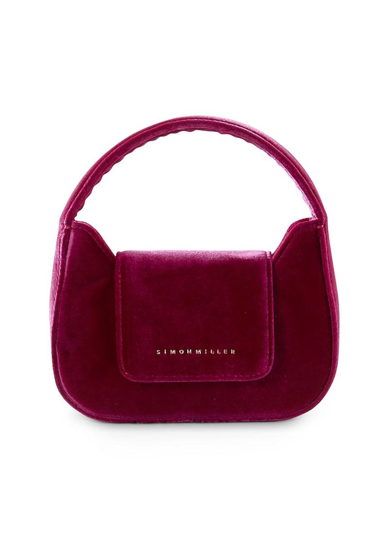 SIMON MILLER Retro Mini Velvet Top Handle Bag