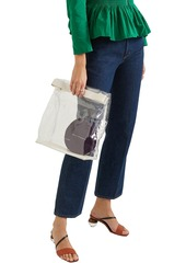 Simon Miller Woman Lunchbag 30 Leather-trimmed Pvc Clutch White