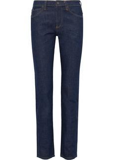 Simon Miller Woman Mid-rise Straight-leg Jeans Dark Denim
