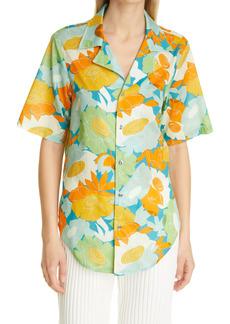 Simon Miller Women's Dade Floral Print Camp Shirt
